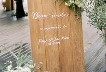 Wedding Signage / Wedding signs and decor that has writing on it