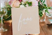 Wedding Table Numbers / Table number ideas for your wedding reception tables