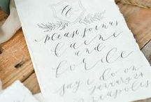 Wedding Printed Paper / Printed items for your wedding, you know, stationery