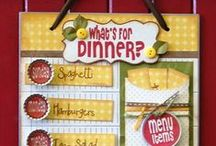DIY - Menus Planners - REcipes Cards /  Recipes Menus Planners Grocery Lists