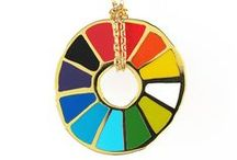 Our Jewelry /  Look fly in our fun and colorful cloisonne pendants & earrings, all gilded in 22 karat gold.