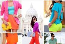 Color blocking / Make this summer a bold one! Mix and match vibrant hues to create outfits that are both fresh and fashion forward.  / by Tuwana A