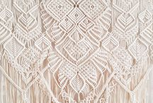 Magical Macramé / All things made out of Macramé which is a form of textile-making using knotting rather than weaving or knitting.