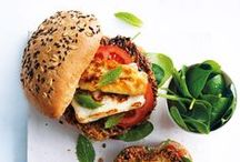burgers + sandwiches / With a bun, baguette or a few slices of bread, these simple recipes are perfect for lunch or dinner.