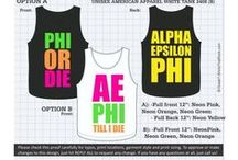 ALPHA EPSILON PHI T-Shirts That Rock / by Greek T-Shirts That Rock