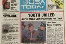 USA Today - Back To The Future edition / In Back To The Future 2, a copy of USA Today from Oct. 22, 2015 featured prominently in the plot. Today -- that same date for real -- USA Today wrapped its regular paper inside a special four page section that included a recreation of the front page from the film.