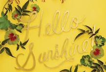 all things yellow / bright, happy, sunny things  / by Jaime Lynn