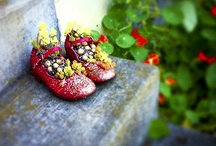 Garden shoes / I'm a shoe-aholic and love gardening. The perfect combo.....