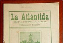 Prensa Antigua Comarcal IV. LA ATLÁNTIDA. / Ejemplares y artículos de la revista literaria La Atlántida publicada en La Orotava en 1928.