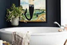 Beautiful bathrooms, outdoor showers  and powder rooms / by Stylelinx.blogspot.com RobertaRockwell