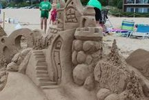 Grand Haven Sand Sculptures  / The Grand Haven Sand Sculpture Contest takes place at the City Beach every June.  Here are some super, sandy award winning sculpture pics & ideas for next year's contest!