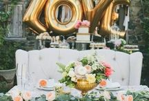Bride & Groom table set up
