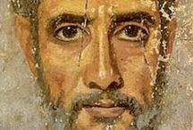 Fayum / These are ancient portraits painted to go on mummies. They look so modern - beautiful.