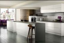 The Kitchen - The one !!! / Base Colours: White & Dark Grey & Lime Summer accent color : Yellow  Winter accent color : Red    Some are ideas.... some are actual items that we have bought....  / by Umit H