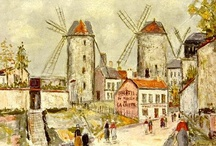 Maurice Utrillo / Maurice Utrillo, born Maurice Valadon, was a French painter who specialized in cityscapes. Born in the Montmartre quarter of Paris, France, Utrillo is one of the few famous painters of Montmartre who were born there. / by Ellen Taborda