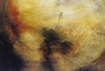 J. M. W. Turner / Joseph Mallord William Turner RA was an English Romantic landscape painter, water-colourist, and printmaker. / by Ellen Taborda