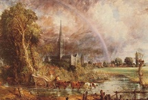 "John Constable / John Constable was an English Romantic painter. Born in Suffolk, he is known principally for his landscape paintings of Dedham Vale, the area surrounding his home—now known as ""Constable Country""—which he invested with an intensity of affection.  / by Ellen Taborda"