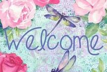 ~ Ꭿ ℬeautiful ᘺelcome ❤️ / Welcome and have a lovely day / by 🌺🌹💙 .Ɗ.i.α.η.η.e. 💙🌹🌺