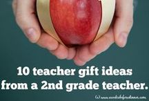Teacher Gift Ideas / Gift ideas for teachers, Christmas gift ideas for teachers, back to school gifts for teachers, and more!