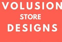 Volusion Store Designs / Our team of talented ecommerce designers is constantly crafting beautiful web designs that are custom tailored for brands of all shapes and sizes. Looking for a custom design of your own? Check out Volusion's offerings here: http://volu.sn/Xrd10G