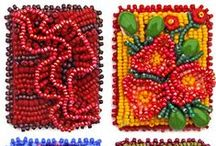 Jewelry Tutorials: Bead Embroidery / Bead Embroidery & Cabochon Bezeling