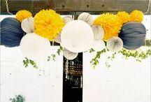 Amerikanische Hochzeit gelb & grau