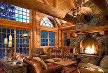 Cozy, Warm & Rustic / Cozy Cabins, Warm Woods & Rustic Charm.  / par Kim Boyer