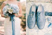 Hochzeit in Jade Grau Blau