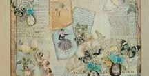 Vintage und Scrapbooking II / Karten gemacht mit La Blanche Papieren, Stempeln oder sonstigem La Blanche Zubehör
