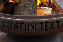 Ohio Flame Custom Shop / Personalize your Ohio Flame Fire Pit with Custom Text. Choose your name, your company, or just about anything else. Custom Text is limited to 10 characters (including spaces) per side.  Choose your name, company name, or just about anything you can come up with. / by Ohio Flame