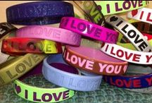 Valentines Day Special Gifts / Surprise your loved ones on a valentine day with HEART style printed personalized bracelets! Go unique with your custom message along with your valentine name printed on the wristband. Check our recent Valentine's Day gift collection here. / by Amazing Wristbands