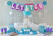 "Frozen Birthday Party Ideas / A Frozen party styled by our friend Brittany at @GreyGreyDesigns. Check out more ""Real Parties"" when you visit Evite Gatherings! / by Evite"