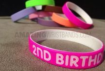 Neon Bracelets / Neon colors are amazingly awesome and its default attractive look make it more popular among all age groups. AmazingWristbands.com allows you to write custom message on any Neon color bracelets. Just check some of our recent collection to get a better idea. / by Amazing Wristbands