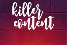 Creating Killer Content / Content is still king, at least in my book. But content comes in many shapes, sizes and varieties. Sharing some of my my favorite #contentmarketing resources here.