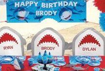 Shark Party Ideas / Don't be a chum! Sink your teeth into shark party ideas!
