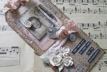 My Tim's tags 2015 / my tags from inspiration from tags from Tim Holtz. by trace metcalfe @ http://inkypinkycraft.blogspot.co.uk