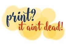 Print: It Ain't Dead! / As we embrace all things digital, it can be easy to forget the power of the printed pieces of your #brand and message. Don't forget! #Print ain't dead! / by Go Creative Go