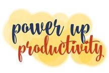 Power Up Productivity! / There's no way to create MORE time, so #timemanagement is a myth. All the more reason to power up our #productivity! / by Go Creative Go