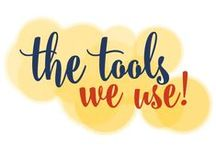 The Tools We Use! / While tools can't replace hard work, talent, drive or determination, they can make running your business a little easier! / by Go Creative Go