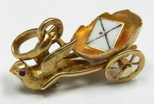 """Charms   Gold / """"When you wear a charm bracelet you are never alone."""" — Joan Munkacsi. A selection of fabulous gold charms from Victorian times to the present. If you like a charm and would like to purchase it, click the image or link to see if it's still available. / by Sandy Weinstein"""