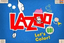 """let's color!"" app / download here: https://itunes.apple.com/us/app/lets-color!/id515438833?ls=1&mt=8 / by LAZOO"