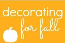 Decorating for Fall/Halloween / Decorate your home this Fall season.  Cook up some delicious apple and pumpkin Fall recipes!  / by Jennifer Burnham {Pure & Simple Organizing}