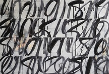 VISUAL RYTHM / ink script gesture asemic writing calligraphy marks etc...