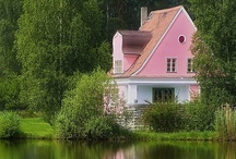 A pink house