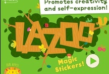 """magic stickers!"" app / For iPhone & iPad! Download here: https://itunes.apple.com/us/app/magic-stickers!/id653471372?mt=8 / by LAZOO"