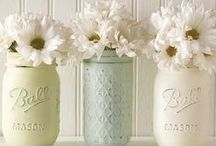 DIY | Mason Jars / What to do with those beautiful canning and mason jars.
