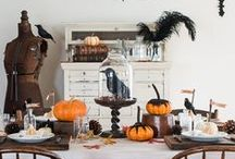 Halloween Inspiration / Costume Ideas.  Carving Pumpkins.  Spooky inspired decorating.