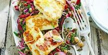 Vegetarian halloumi recipes / It's time for halloumi to shine. Get the very best out of this unique cheese with these happy, healthy vegetarian halloumi recipes – each absolutely bursting with flavour. •  Topics: Grilled halloumi / halloumi salad / halloumi fries / halloumi burger / halloumi pasta / halloumi skewers / halloumi wrap / halloumi bake / halloumi sandwich / bbq halloumi / barbecue halloumi / halloumi breakfast recipes / halloumi bites / halloumi dinner recipes / halloumi lunch recipes / healthy halloumi recipes