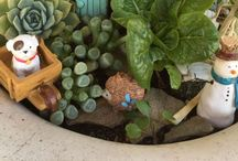 Mini gardens / Wee houses and gardens homes for wee folks and their pets.