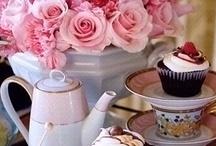 vintage tea in PINK / w w w . v i n t a g e d i s h r e n t a l . c o m / by Vintage Dish Rental